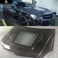 Прозрачная крышка W204 C63 coupe углеродного волокна двигатель вытяжки Авто Бонне для Mercedes Benz W204 C63 купе 11 14