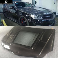 Transparent cover W204 C63 coupe Carbon Fiber Fiber Engine Hoods Auto Car Bonnet For Mercedes Benz W204 C63 coupe 11 14