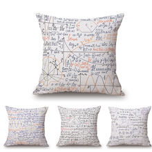 "18"" Square Math Formula Cushion covers Science Chemistry Throw Pillow Covers Decorative Pillow Cases"