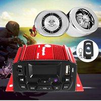 KROAK 4CH Car Motor Amplifier System Anti Theft Speaker Audio USB FM TF Remote Control