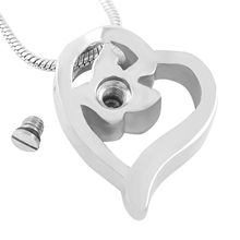 Heart and Butterfly Urn Necklace