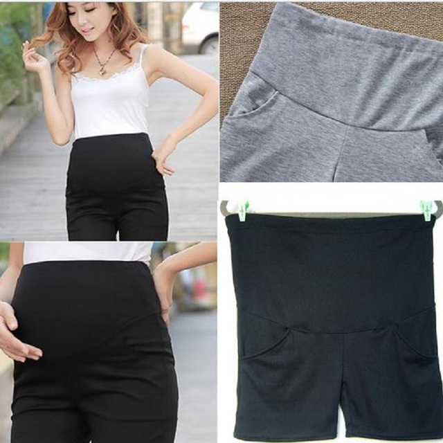 Adjustable Elastic Belly Shorts for Maternity