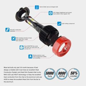 Image 5 - NAO H7 LED H4 H11 Nebel Licht HB4 HB3 3 Seite Auto Scheinwerfer Birne H1 H27 880 881 12V weiß 9006 H8 9004 Für Lada vesta Auto Lampe 72W