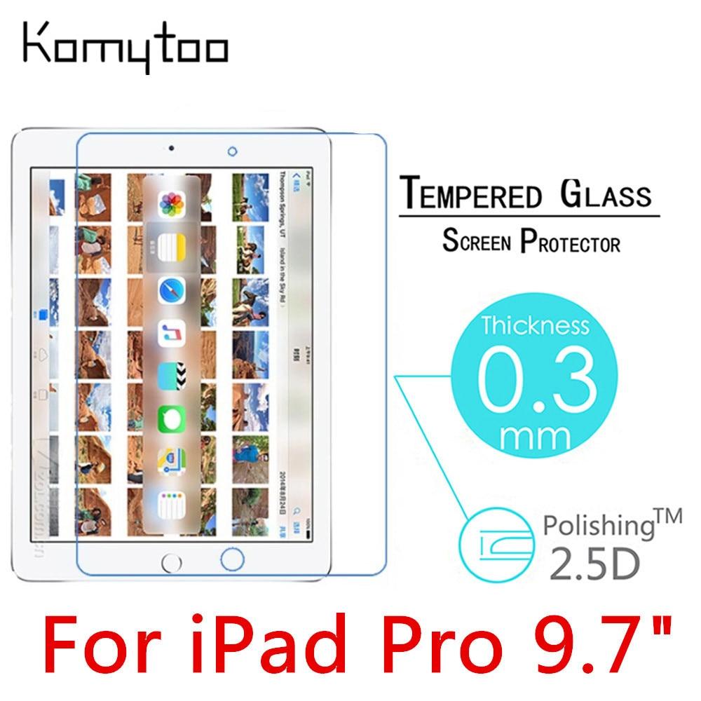 """imágenes para 10 unids Pro 9 H 2.5D 0.3mm Templado de Vidrio Templado de Cine Para el ipad de Apple Pro 9.7 """"A Prueba de explosiones Protector de Pantalla LCD Protector de la Cubierta"""