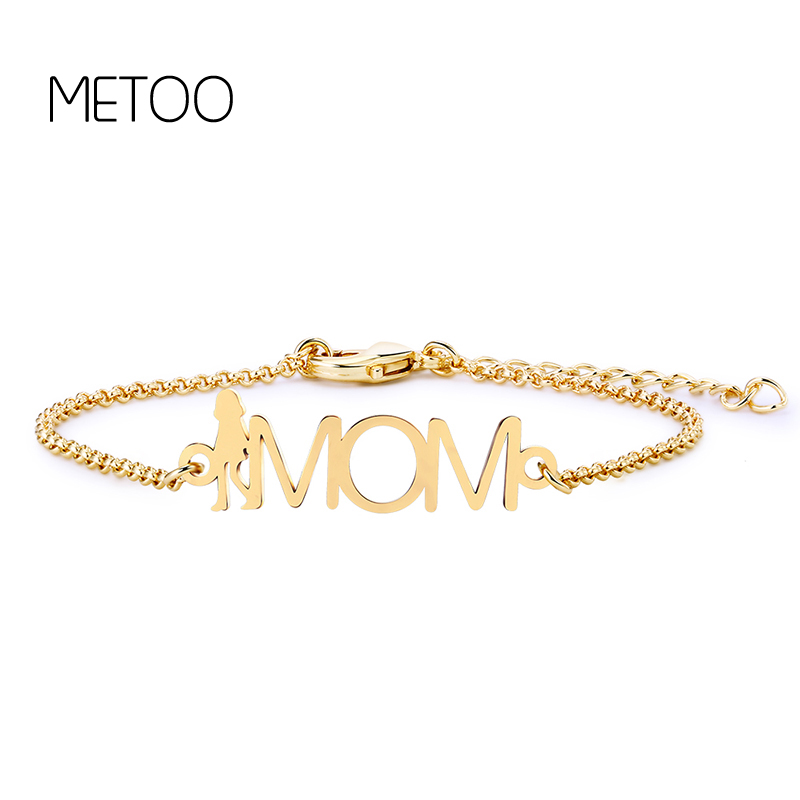 Handcraft Charming 3 Color Chain Link Letter Bracelets 26 English Letters Women Bracelets Trendy Name Gift Jewelry for Friend in Chain Link Bracelets from Jewelry Accessories
