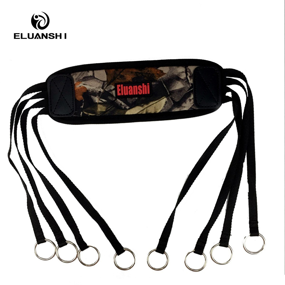 ELUANSHI Outdoor Camouflage Hunting Bags Pouches Bird Duck Strap Hanger Game Carrier Belt Holder Brown Color Accessories Genuine