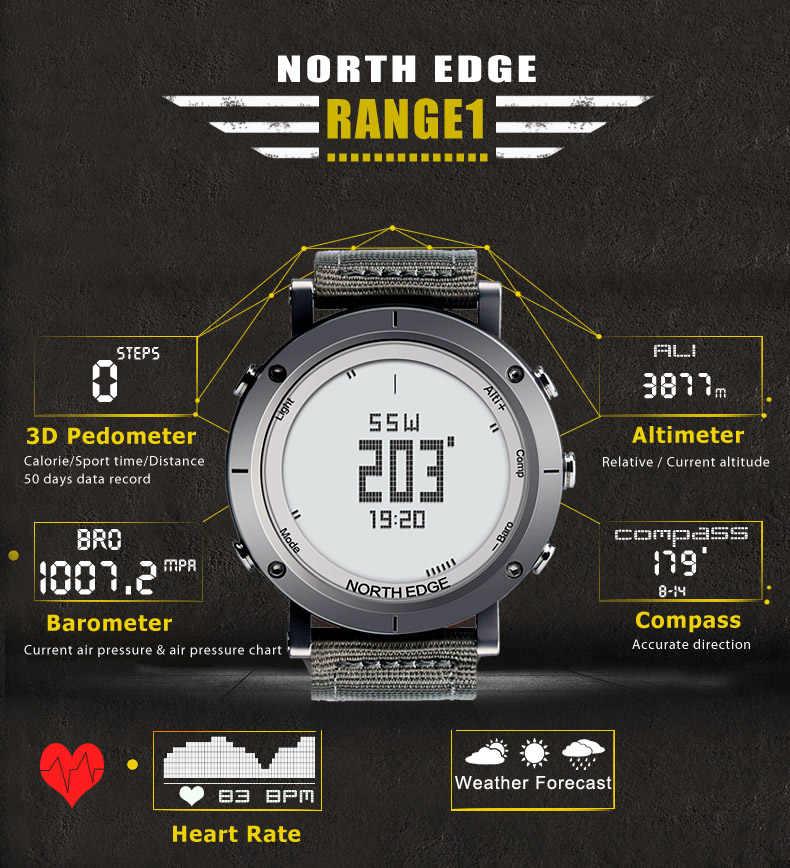 Relogio Masculino Северная режущая кромка Для мужчин спортивные умные цифровые часы Водонепроницаемый наружные часы Рыбалка термометр альпинистские часы наручные часы