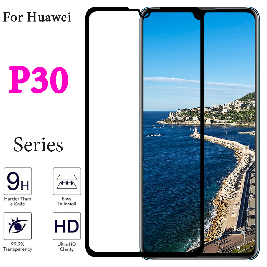 Tempered glass on for <font><b>huawei</b></font> <font><b>p30</b></font> lite <font><b>screen</b></font> <font><b>protector</b></font> p 30 p30lite film 30p light huaweip30 protect cristal 9h verre protective image