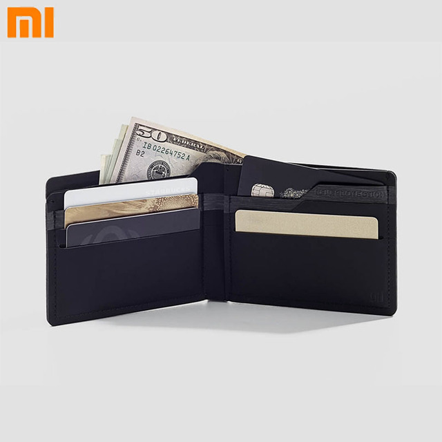 Xiaomi 90points Wallets Soft Leather Fashion Simple Short Purse Business Wallet Can Isolated Signal Gift For Man Card Package