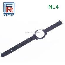 1 шт. 13,56 МГц RFID Регулируемый Нейлоновый ремешок для часов браслет бирка карта с F08 чип ISO14443A для контроля доступа