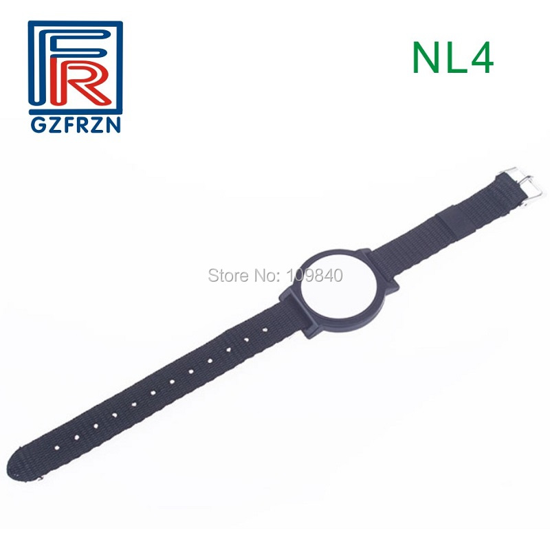 1pcs 13.56MHz RFID Adjustable Nylon watch strap Bracelet wristband tag card with F08 chip ISO14443A for access control