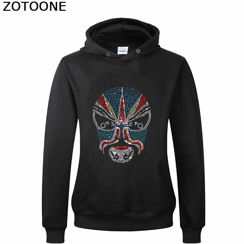 ZOTOONE Clear Hotfix Rhinestone Applique for Clothes Decoration Strass Crystals Rhinestones Acial Makeup In Beijing Opera E in Rhinestones from Home Garden