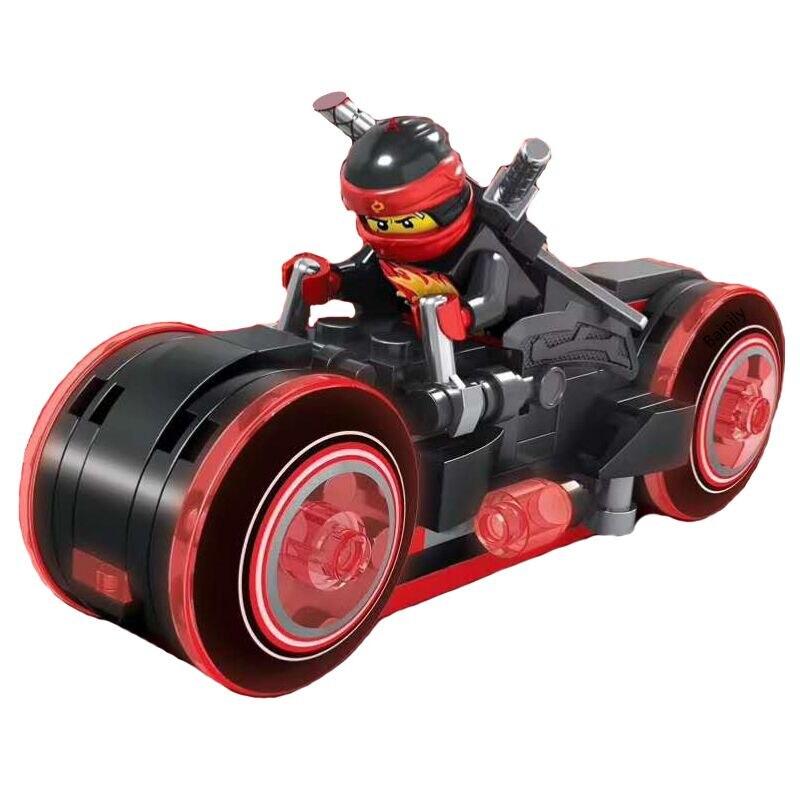 2018 nuevas Ideas Compatible Legoinglys NinjagoINGlys maestros de Ninja motocicleta bloques de construcción ladrillos juguetes para niños