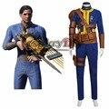 Novo Jogo Fallout 4 Masculino Único Sobrevivente Nate Cosplay Adulto Macacão Roupa Feita Sob Encomenda do Dia Das Bruxas dos homens J5