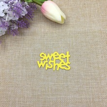 Julyarts New Dies Sweet Wishes Word Die Metal Cutting For Scrapbooking Greeting Thanks Card Craft