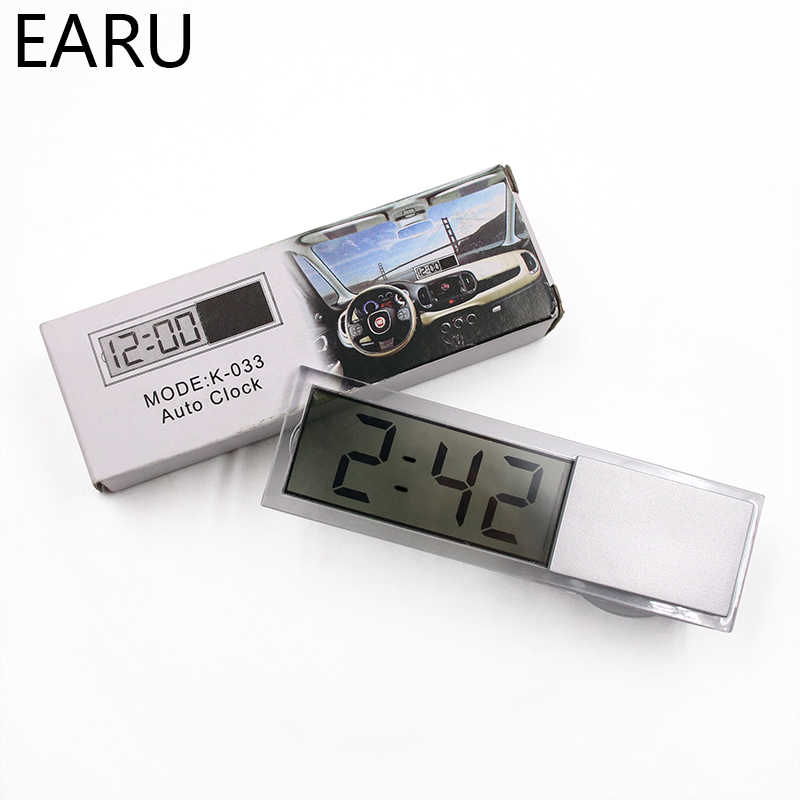 Mini Weather Station Digital Car Thermometer Thermostat Timer Clock Temperature Instruments Sensor Wall Type Meter LCD Display