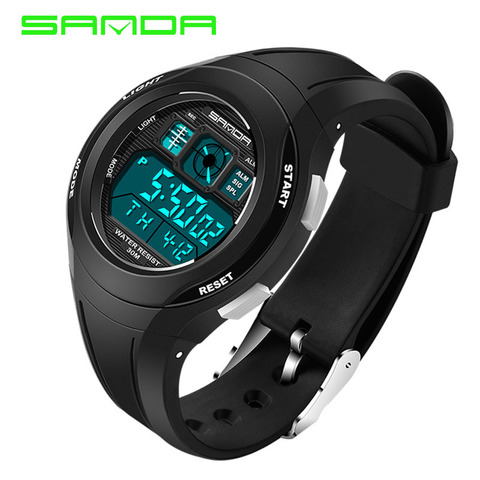 SANDA Brand Children Watches LED Digital Multifunctional Waterproof Wristwatches Outdoor Sports Watches for Kids Boy Girls #331 Pakistan