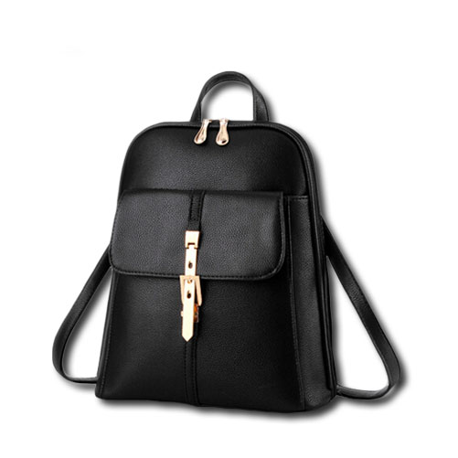 2016 Women Stylish Backpacks Fashion Leather School Bag Solid Travel Bag  For Girls Ladies Students Hot High Quality Sac A Dos 880f6e55a1a12