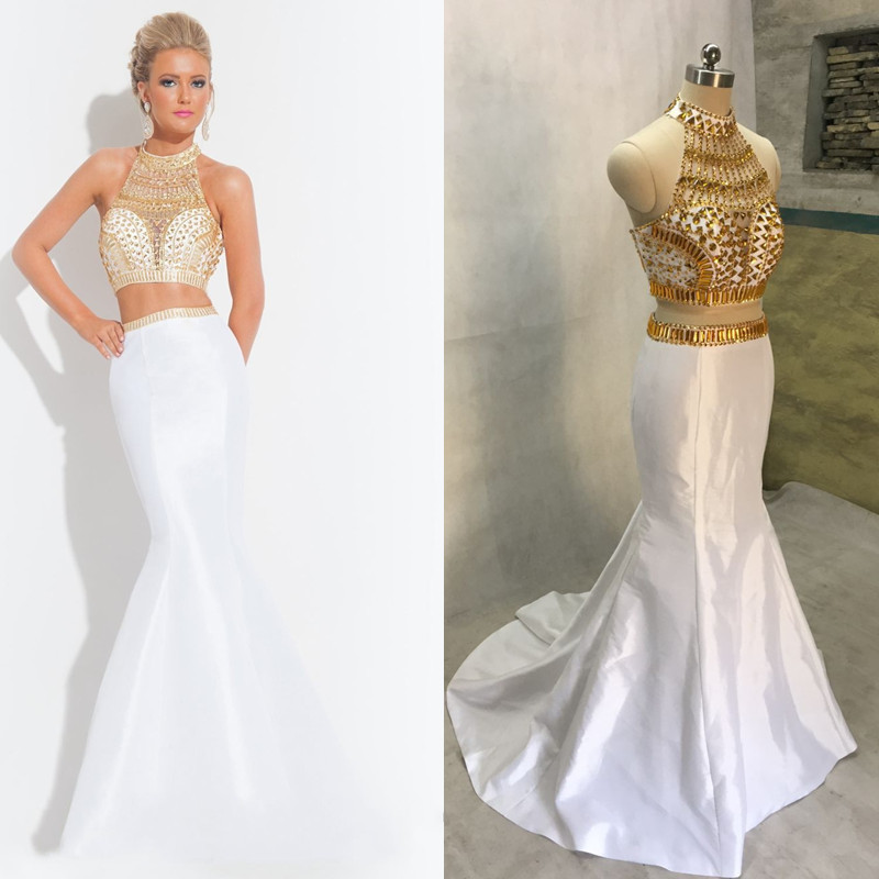 Popular White Gold Prom Dress-Buy Cheap White Gold Prom Dress lots ...