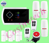NEW Arrival APP Control Smart Home Security LED Display G10A Wireless SMS GSM Alarm System Support