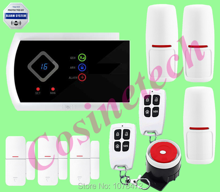 NEW Arrival APP Control smart Home Security LED display G10A Wireless SMS GSM alarm system Support defense zone renamed renamed платье renamed rnmd6350