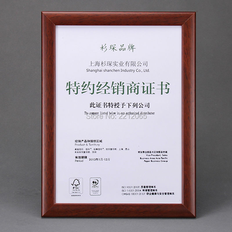 Online buy wholesale diploma certificate frames from china for Cheap document frames