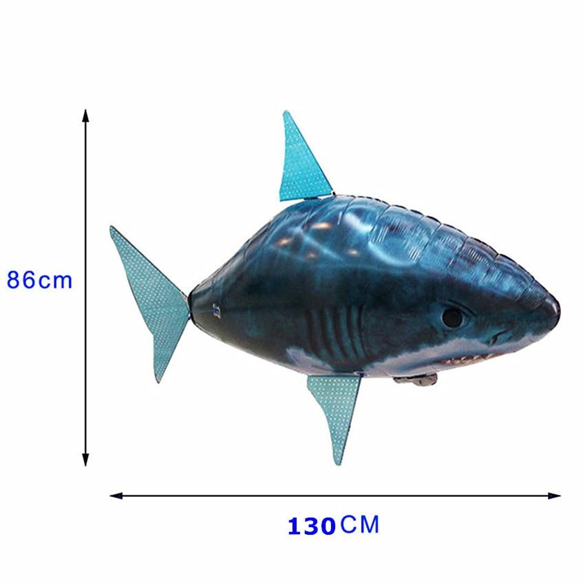 1 Uds. Juguete de tiburón volador a Control remoto helicóptero RC inflable con helio pescado avión payaso globos de pescado Robot regalo para niños