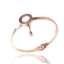 Fashion jewelry bracelet,Fashion beaded drop rose gold bracelet,Titanium steel accessories,