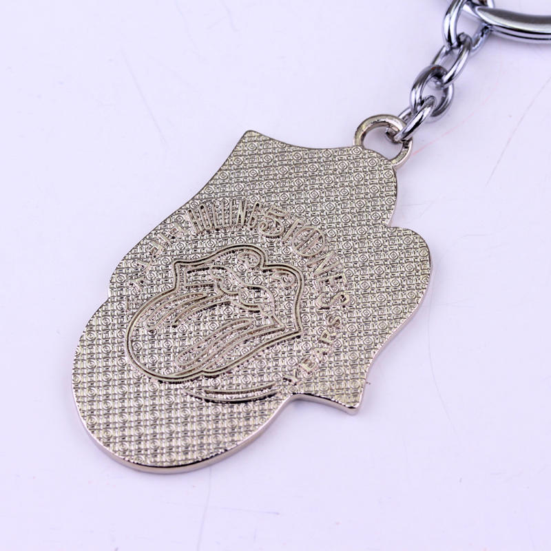 MQCHUN Rock Band The Rolling Stones Keychain Metal Figure Toy Pendant Key Ring Fashion Key chain For Fans Men Women Gift