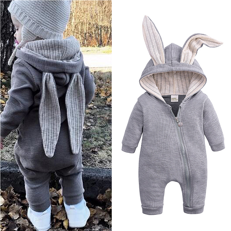 Infant Clothing Overalls Spring Autumn Baby Rompers Rabbit Girls Boys Jumpsuit Kids Costume Outfit Newborn Baby Clothes 3 9 12M