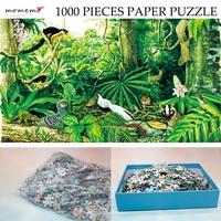 MOMEMO Die Montane Regen Wald Papier Puzzle 1000 stücke Original Exquisite Hand gemalt Puzzles Ökosystem Jigsaw Puzzle Spielzeug Geschenk-in Puzzles aus Spielzeug und Hobbys bei
