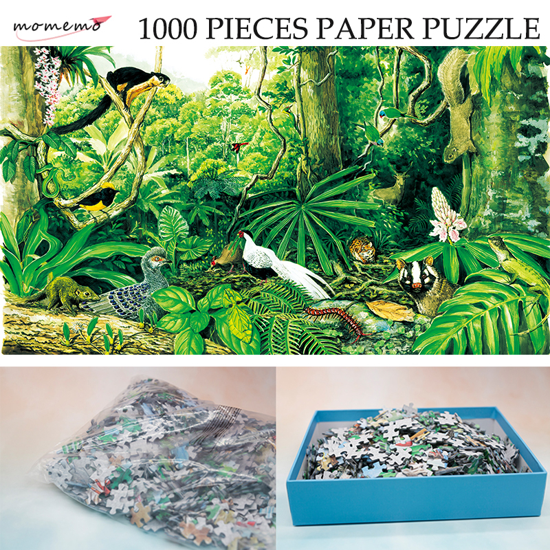MOMEMO The Montane Rain Forest Paper Puzzle 1000 Pieces Original Exquisite Hand-painted Puzzles Ecosystem Jigsaw Puzzle Toy Gift