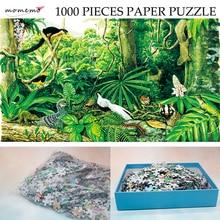 купить MOMEMO The Montane Rain Forest Paper Puzzle 1000 Pieces Original Exquisite Hand-painted Puzzles Ecosystem Jigsaw Puzzle Toy Gift по цене 2531.03 рублей