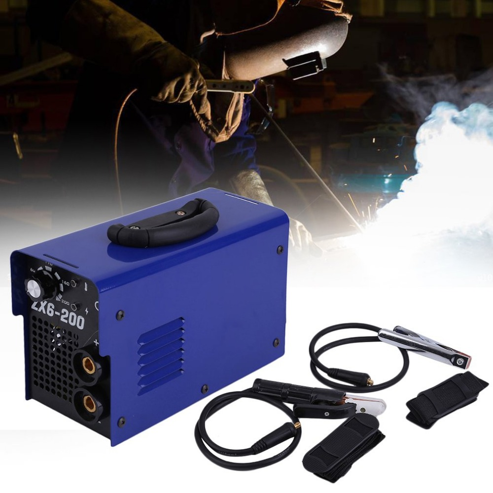 Professional MMA Continuous Soldering Welding Machine ZX6-200 Manual Equipment PWM Control 220V Weldering Accessory EU PlugProfessional MMA Continuous Soldering Welding Machine ZX6-200 Manual Equipment PWM Control 220V Weldering Accessory EU Plug