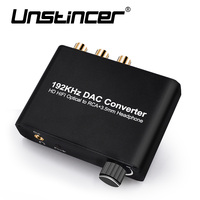 UNSTINCER Digital Converter HD HIFI Optical Coaxial To RCA Adapter With 3 5mm Headphone Decoder 5