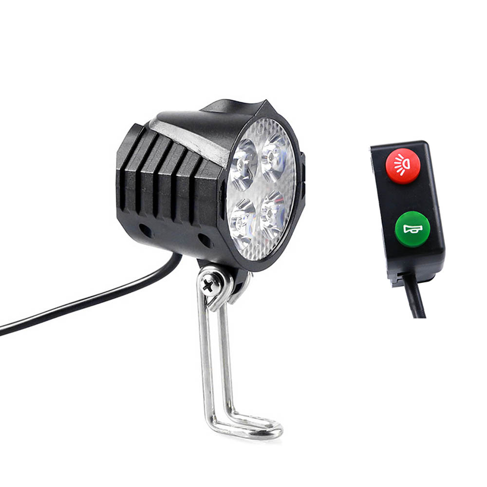 Elektryczne światło rowerowe/światło ebike 12V 24V 36V 48V 60V 72V 80V z włącznik klaksonu tarkawodoodpornal