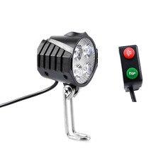 Lumière de vélo électrique/lumière ebike 12V 24V 36V 48V 60V 72V 80V avec interrupteur à klaxon lampe de poche étanche