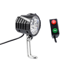 إضاءة دراجة هوائية كهربائية/ebike ضوء 12 فولت 24 فولت 36 فولت 48 فولت 60 فولت 72 فولت 80 فولت مع القرن التبديل إضاءة مقاومة للمياه