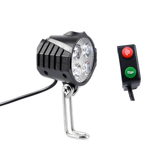 Image 1 - electric bicycle light/ebike light 12V 24V 36V 48V 60V 72V 80V with Horn Switch Waterproof Flashlight
