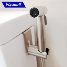 Wasourlf Toilet Bidet Sprayer Stainless Steel 1.5M Shower Hose and Holder and Brass Valve Free Shipping bathroom toilet portable shattaf bidet diaper sprayer with thermostatic faucet valve and 150 cm stainless steel hose a1301d