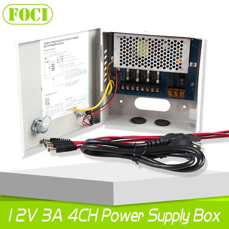 bilder für 4CH 12 V 3A 36 Watt Cctv-netzteil Box/Schaltnetzteil Für CCTV Kamera-sicherheitssystem