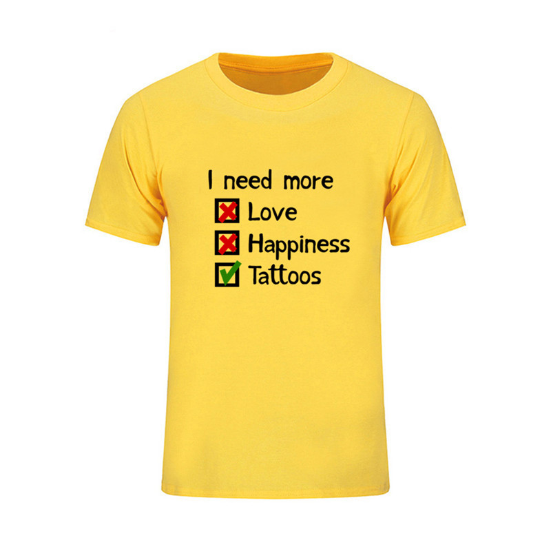 new product f67d2 9017b US $5.48 49% OFF|Custom Love Happiness Tattoos T Shirt Mans New Designs  Hipster Swag Short Sleeve Cotton Tee Shirts Plus Size Hip Hop psg jersey-in  ...