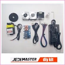 Części maszyny grawerowanie laserowe, 2 osi sterowania baord + silnik krokowy + 12V5A zasilanie + pas + biegów + USB kabel + 2500 mw laser
