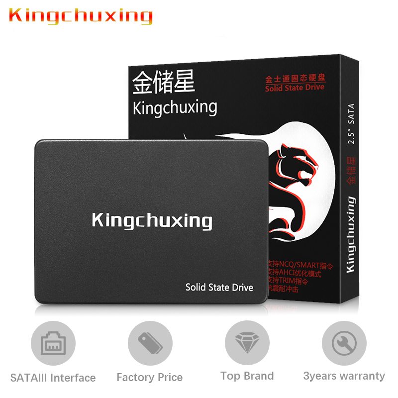 SSD 2.5 Inch SATA3 III Hard Disk 128GB 256GB 500GB 512GB 1TB 2TB Laptop Desktop 2.5'' Solid State Drive Internal Kingchuxing