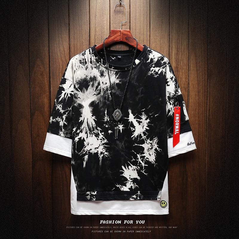 T Shirt Men Harajuku Streetwear Fashions Funny Tshirt Men T Shirt Half Sleeve Hip Hop T-Shirt Men Summer 2019