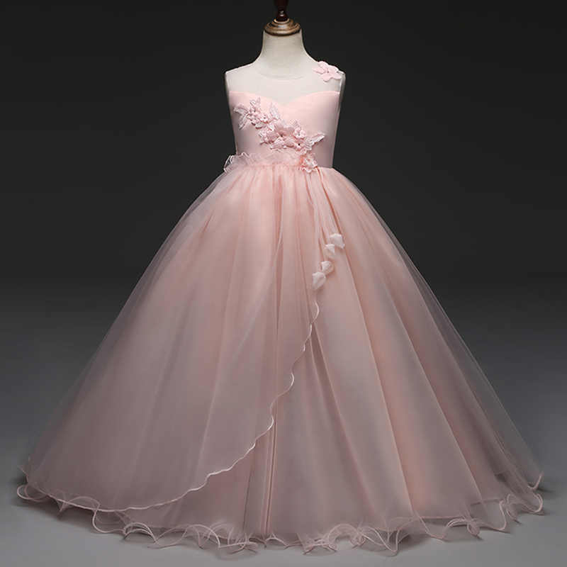 c64ce4a49571d Long Gown For Senior Junior Teens Summer Baby Flower Girl Dresses for  Wedding Party Dress for