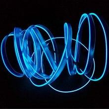 JURUS Универсальный 5 M 10 Цвета светодиодная автомобиля El провод гибкий неон Веревка Tube ленты Авто El линии интерьера лампа с инвертор 12 V