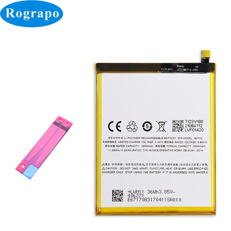 Replacement Battery BA712 Mobile-Phone Meizu For M6s/Meilan/S6/.. M712q/M/c Accumulator