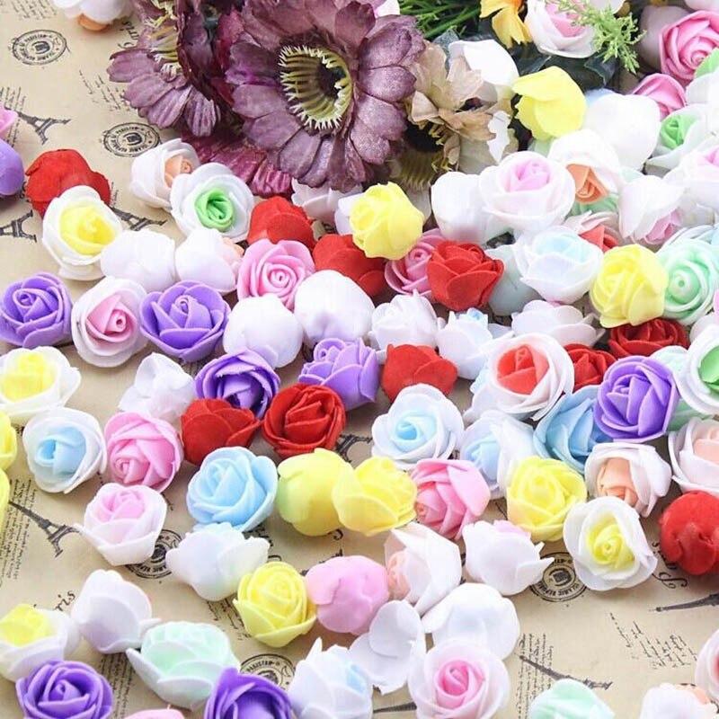 Искусственные цветы 50 шт./пакет пенополиэтилен Роза ручной работы DIY свадебное украшение дома многофункциональный цветок голову %