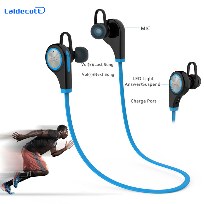 Sports Bluetooth Headsets CSR4 1 Q9 Wireless Headphones In ear Stereo Earphone with Microphone for Xiaomi